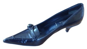 Prada Kitten Heel Pump Button black Pumps