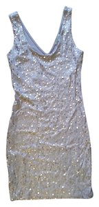 Charlotte Russe Sequins Mini Scoop Neck Dress