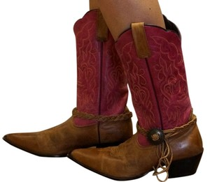 Oak Tree Farm Italian Pink Tan Boots
