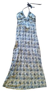 Blue Floral Maxi Dress by Mossimo Supply Co. Maxi Summer Halter