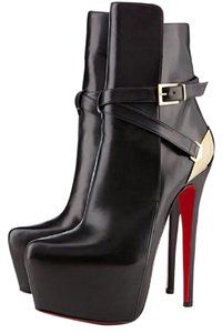 Christian Louboutin Hardware Equestria Black, Silver Boots