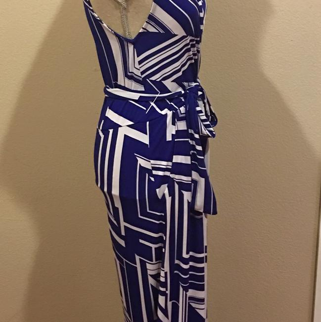 Blue Maxi Dress by Rubber Ducky Productions, Inc. Image 3