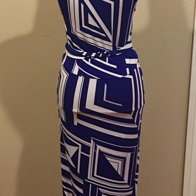 Blue Maxi Dress by Rubber Ducky Productions, Inc. Image 4