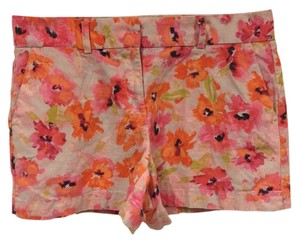 Ann Taylor LOFT Mini/Short Shorts Pink, Orange, Beige, Black