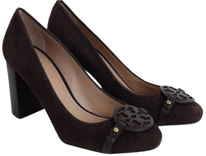 Tory Burch Millers High High Heels Coconut Brown Pumps