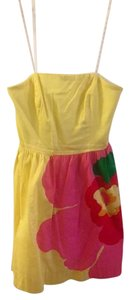 Lilly Pulitzer short dress Yellow, Pink, White on Tradesy