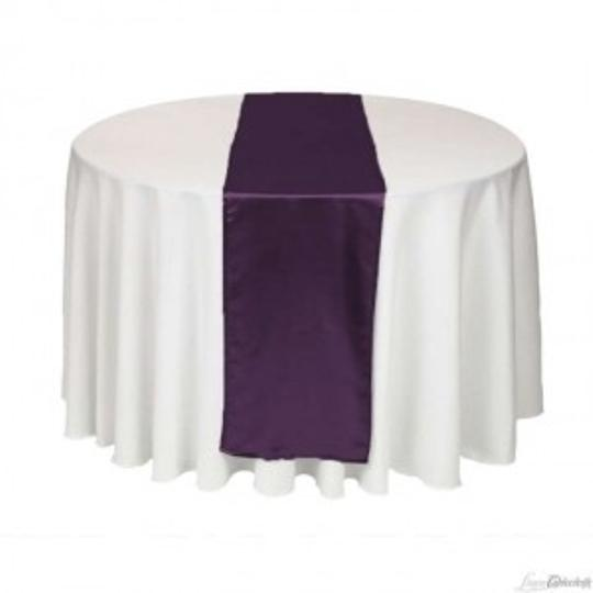 Eggplant Table Runners & Chair Sashes Tablecloth