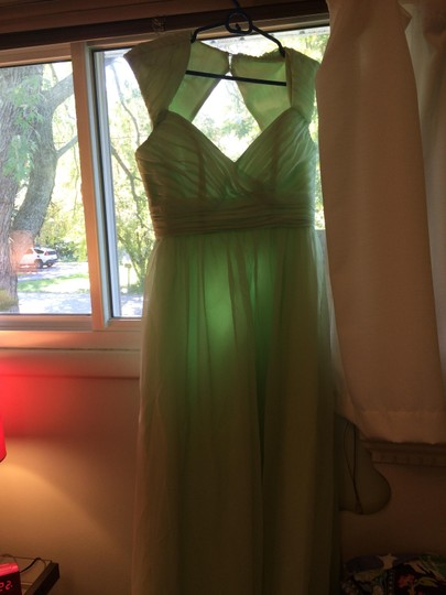 Eden Light Green Formal Bridesmaid/Mob Dress Size 6 (S)