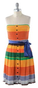 Plenty by Tracy Reese short dress Multi-color Striped Silk Mini Strapless on Tradesy