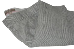 Banana Republic Trouser Pants Grey and white pinstripe