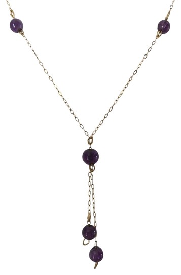 Preload https://img-static.tradesy.com/item/13199305/14k-yellow-gold-and-amethyst-bead-with-y-shape-design-necklace-0-3-540-540.jpg