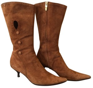 Sergio Rossi Suede Brown Boots