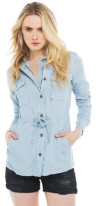 Akira Light Blue Womens Jean Jacket
