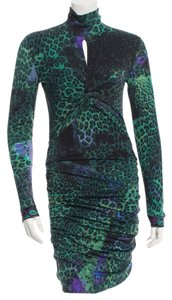 Emilio Pucci Longsleeve Wool Leopard Dress