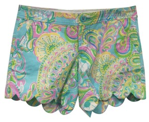 Lilly Pulitzer Mini/Short Shorts Blue, Yellow, Green, Purple, White