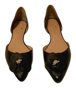 Kate Spade Elysee Lovely D'orsay Black Flats