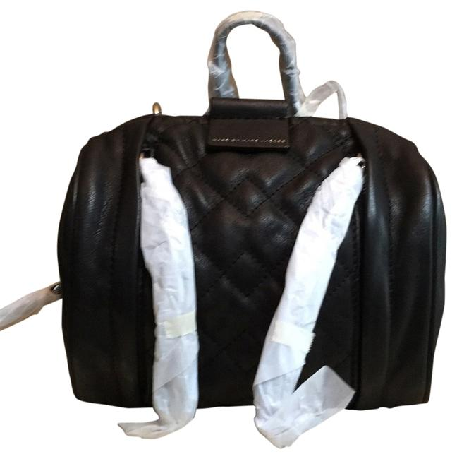 Item - Small Moto Quilted Barrel Black Leather Satchel