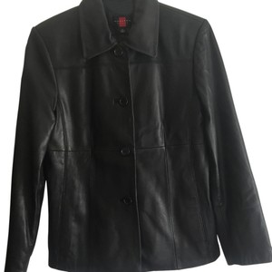 Gallery Leather Petite Classic Leather Jacket