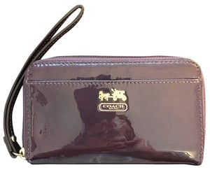 Coach Wristlet in Aubergine/Purple