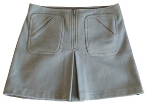 Gap Wool Zipper Mini Skirt Blue