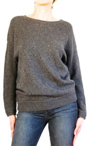 Vince Brown Dark Grey Wool Sweater