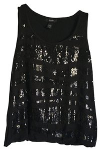 Alfani Top Black Sequin