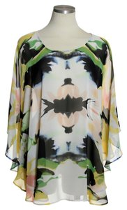 Carmen Marc Valvo Sheer Batwing Top
