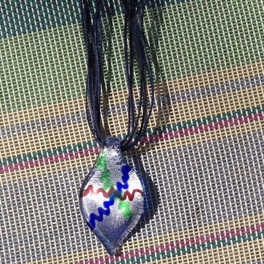Other Murano Glass Silk Cord Pendant Necklace