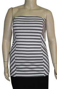 Derek Heart Gray/White Halter Top