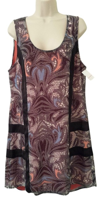Preload https://item3.tradesy.com/images/kardashian-kollection-black-coral-periwinkle-paisley-chiffon-tunic-cut-out-above-knee-short-casual-d-1320137-0-0.jpg?width=400&height=650