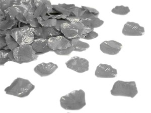 3000x Silver Shiny Rose Silk Petals - 22 More Colors Available