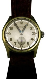 gotham Vintage Wrist watch Gold plated Leather band