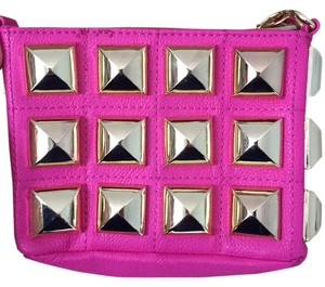 Betsey Johnson Stud Studs Bright Magenta Cross Body Bag