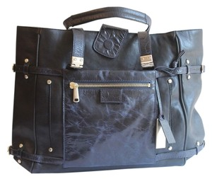 Joy Gryson Tote in Navy Blue Leather