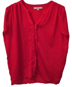 Ann Taylor LOFT Top Red Orange