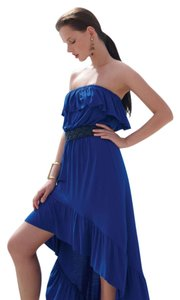 Blue Maxi Dress by Lilka Anthropologie Hi-low