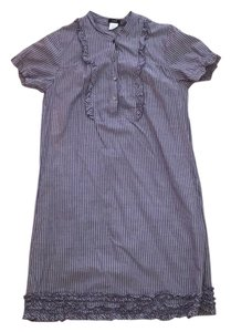 Jcrew casual pinstripe dress short dress Blue and white on Tradesy