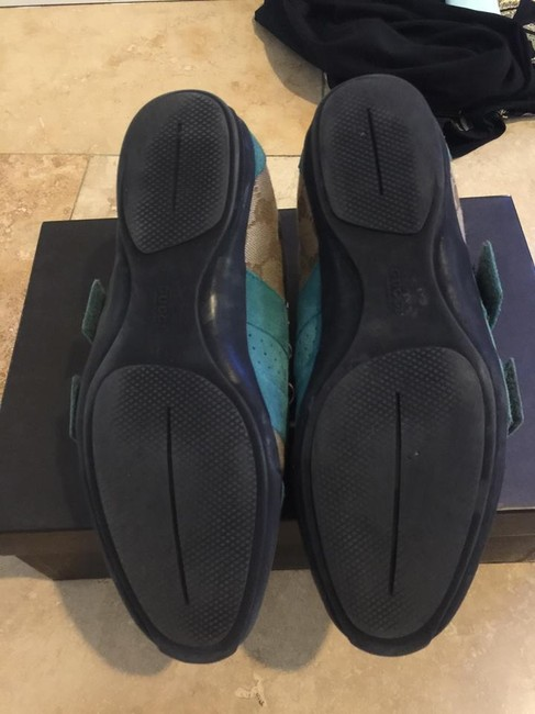 Gucci Brown & Blue Suede Gg Canvas Sneakers 37.5 Wedges Size US 7 Regular (M, B) Gucci Brown & Blue Suede Gg Canvas Sneakers 37.5 Wedges Size US 7 Regular (M, B) Image 5