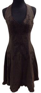 Scully short dress Brown Halter Ruffle Boho on Tradesy