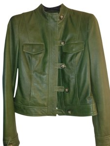 Worth Green Leather Leather Jacket