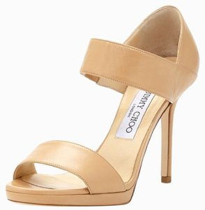 Jimmy Choo Alana Double Band Nude Sandals