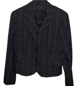 Express Grey Plaid Suit Jacket
