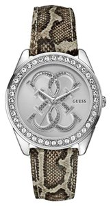Guess Guess Women's Silver Tone Analog Watch U0208L8