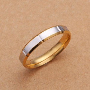Silver/Gold Bogo Free Titanium Comfort Fit Ring Free Shipping Women's Wedding Band