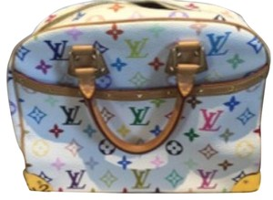 Louis Vuitton Satchel in White Multi Monogram