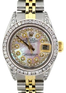 Rolex LADIES ROLEX DATEJUST 2-TONE WATCH 2.9 ct DIAMONDS