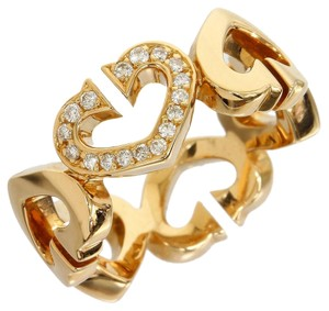 Cartier Cartier 18K Yellow Gold C Heart Diamond Ring B4041700