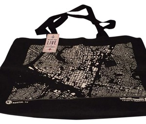 City Fabric Canvas Tote in Black
