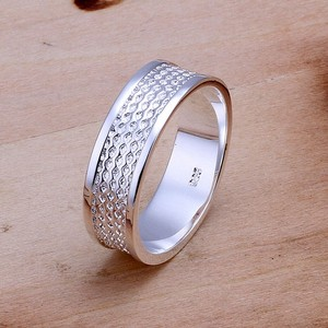 Attractive Wide Silver Wedding Fashion Band Ring Free Shipping