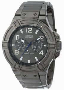 Guess Guess Rigor Men's Gunmetal Analog Watch U0218G1